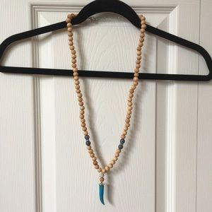 Express Wood Bead Necklace